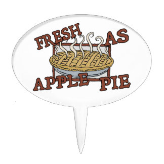 Fresh As Apple Pie Cake Topper