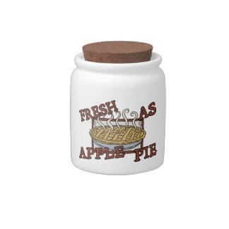 Fresh As Apple Pie Candy Jar