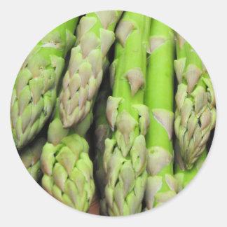 Fresh Asparagus Classic Round Sticker