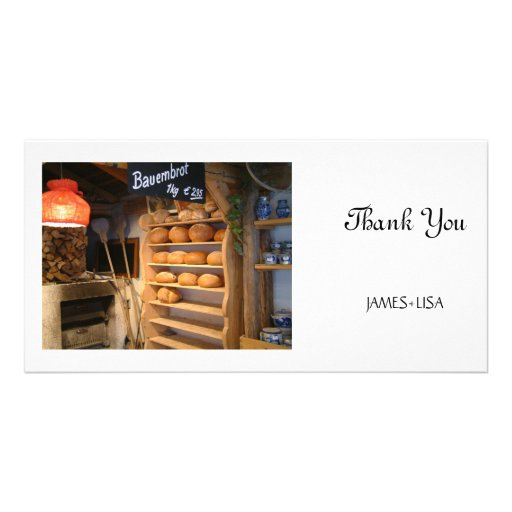 Fresh Backed Bread Personalized Photo Card