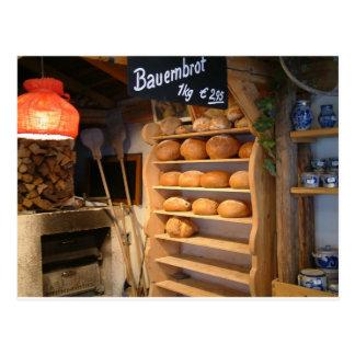 Fresh Backed Bread Postcard