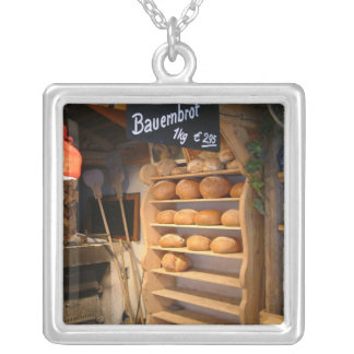 Fresh Backed Bread Silver Plated Necklace