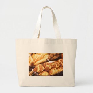 Fresh baked bread large tote bag