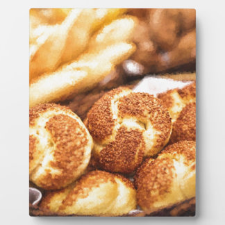 Fresh baked bread plaque
