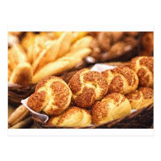 Fresh baked bread postcard
