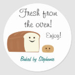 Fresh Baked Bread Small Sticker