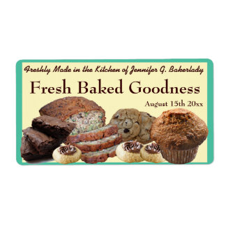 Fresh Baked Goods Variety Packaging Personalized Shipping Labels