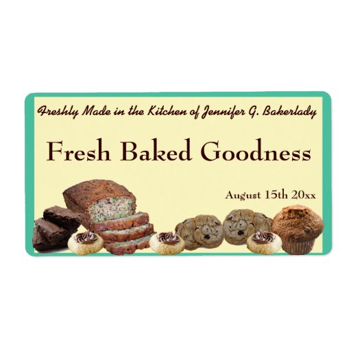 Fresh Baked Goods Variety Packaging Version 2 Custom Shipping Label