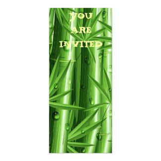 Fresh Bamboo with Dew Invitation