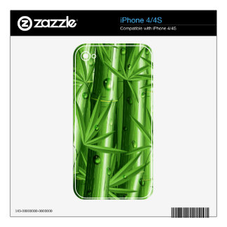 Fresh Bamboo with Dew iPhone 4 4S Skin iPhone 4 Decals