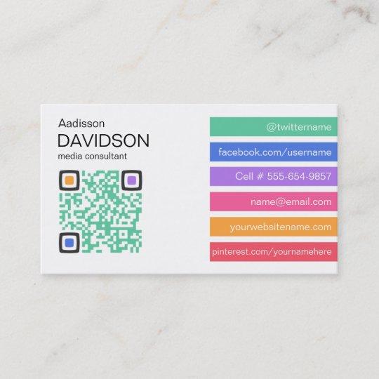 Fresh bar qr code social media business card zazzle fresh bar qr code social media business card colourmoves