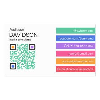 Fresh Bar QR CODE Social Media Business Card