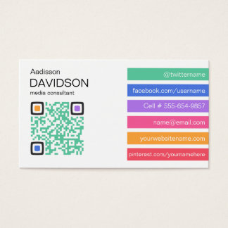 Fresh Bar QR CODE Social Media Business Card