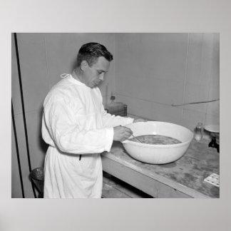 Fresh Batch of Pneumonia Vaccine: 1937 Poster