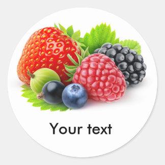 Fresh berries classic round sticker