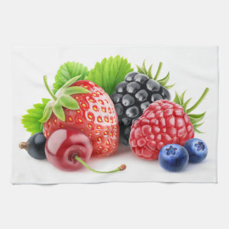 Fresh berries kitchen towels