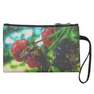 Fresh Berries on the Vine Women's Suede Clutch
