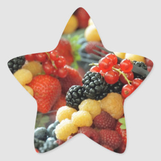 fresh berries star sticker