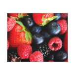 Fresh berries stretched canvas print