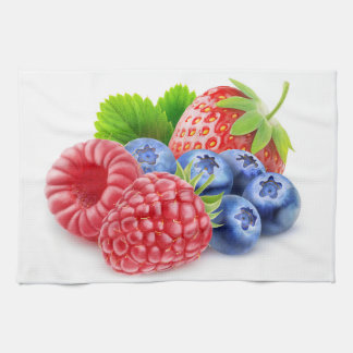 Fresh berries towel