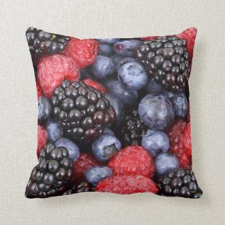 Fresh Berry Fruit Background Throw Pillow