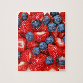 Fresh blueberries and strawberries jigsaw puzzle