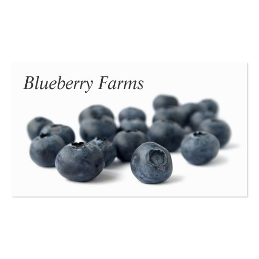 Fresh Blueberries Business Card Templates