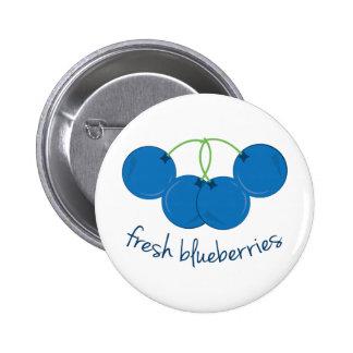 Fresh Blueberries Pinback Buttons