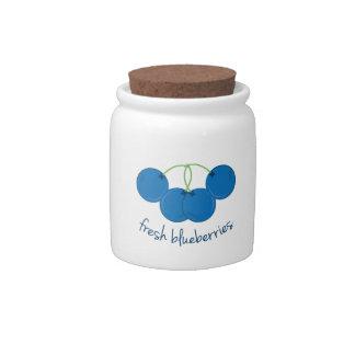 Fresh Blueberries Candy Jars