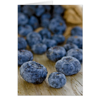 Fresh Blueberries Stationery Note Card