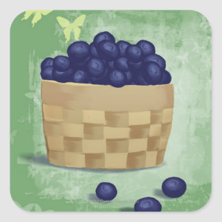 Fresh Blueberries Square Sticker