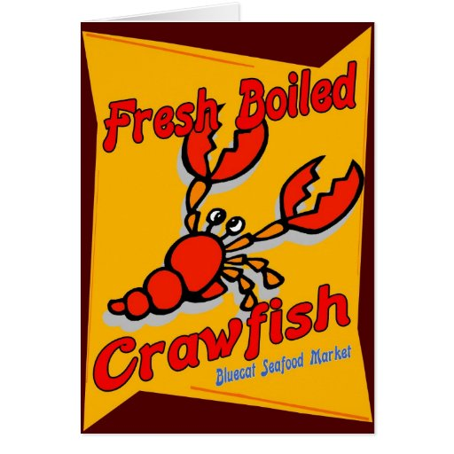 Fresh Boiled Crawfish Card
