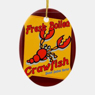 Fresh Boiled Crawfish Ceramic Ornament