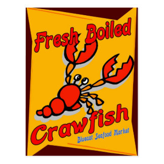 Fresh Boiled Crawfish Postcard