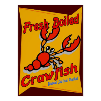 Fresh Boiled Crawfish Poster