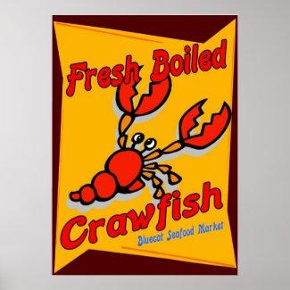 Fresh Boiled Crawfish Poster