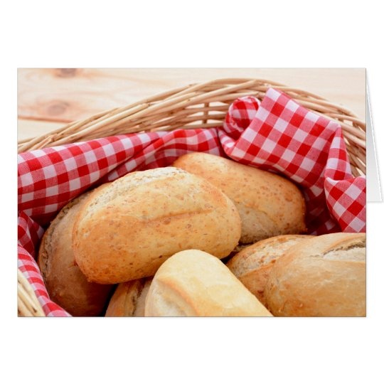 Fresh bread rolls card