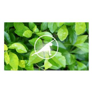 Fresh Breathing Green Leaves Pilates Business Card