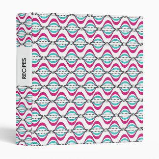 Fresh Bright Stylish Swirly Stripes Design 3 Ring Binder