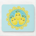 Fresh Bunch Of Lemons Kawaii Mousepad