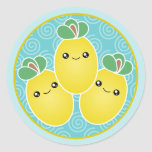 Fresh Bunch Of Lemons Kawaii Stickers