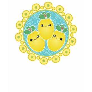 Fresh Bunch Of Lemons Kawaii T-Shirt shirt
