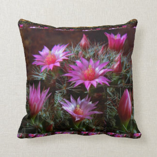 Fresh CACTUS Cacti Flower: Wild Exotic Floral Show Throw Pillow
