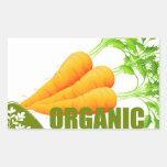 Fresh carrot and text rectangular sticker