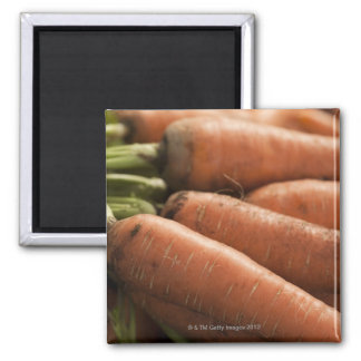 Fresh Carrots at the Union Square Greenmarket 2 Inch Square Magnet