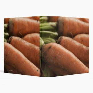 Fresh Carrots at the Union Square Greenmarket Vinyl Binder