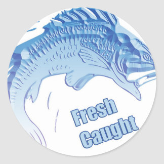 Fresh Caught Classic Round Sticker