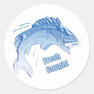 Fresh Caught Round Stickers