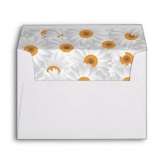 Fresh Chamomile Flower Pattern 5x7 Envelope