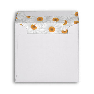 Fresh Chamomile Flower Pattern Envelope